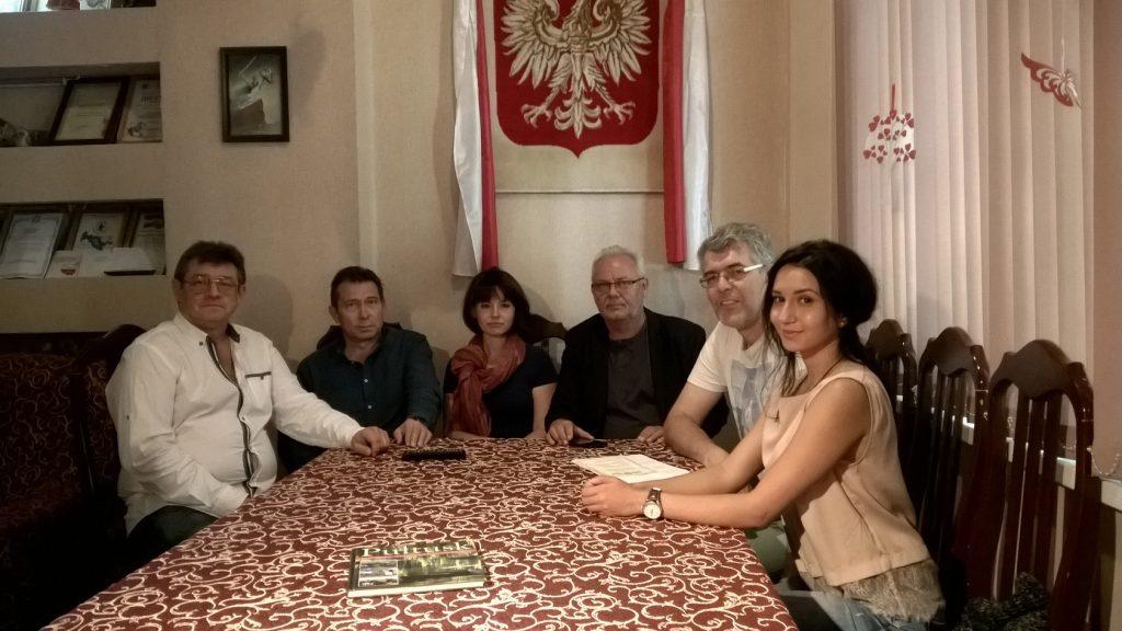 Пан Александр Левинский (первый председатель «Светлицы» - с 1989 по 1994 гг.) в гостях в родном Центре.