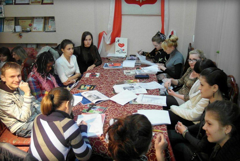 Дополнительные занятия польским языком для молодёжи Центра.